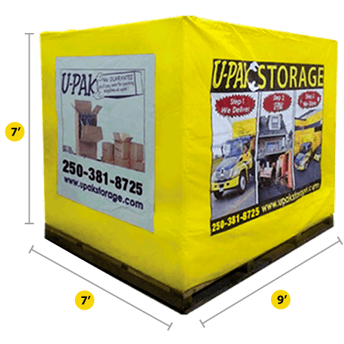Mobile Storage in Vancouver and Victoria: price, units. Our Storage sizes, Full Size, photo